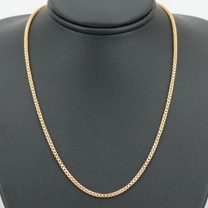 18k solid stamped yg chain